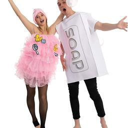 Loofah and Soap Costume for Adult Group or Couples, Halloween Dress Up, Role-play, Carnival Cospl... | Amazon (US)