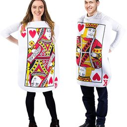 Tigerdoe King and Queen Card Costume - Poker Cards Costume - Couple Costume - Chess Piece Hats - ... | Amazon (US)