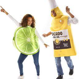 Beer & Lime Halloween Couples Costume - Funny Food Fruit Adult Bodysuit | Amazon (US)