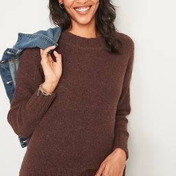 Cozy Oversized Bouclé Crew-Neck Sweater for Women   Old Navy (US)