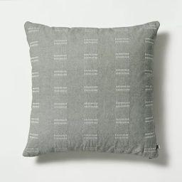 "24"" x 24"" Dash Stripe Throw Pillow Green - Hearth & Hand™ with Magnolia | Target"