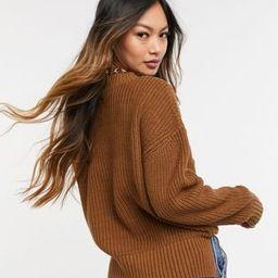 Selected Femme sweater in brown   ASOS (Global)
