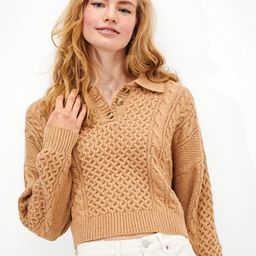 AE Cable Knit Polo Sweater   American Eagle Outfitters (US & CA)