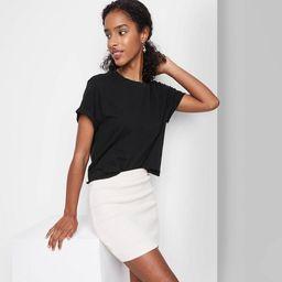 Women's Short Sleeve Roll Cuff Boxy T-Shirt - Wild Fable™   Target
