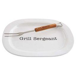 Grill Sergeant Platter with Skewer Fork | Dillards