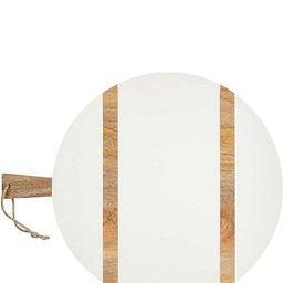White Large Round Wood Board | Dillards