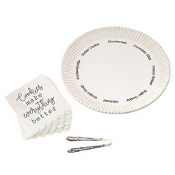 Cookie Plate Set with Napkins and Tongs | Dillards