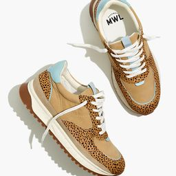 Kickoff Trainer Sneakers in Spot Dot Calf Hair and Nubuck   Madewell