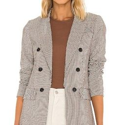 Double Breasted Blazer in Rich Black, Fall Blazer, Blazer, Plaid Blazer, Check Blazer, Fall Jacket | Revolve Clothing (Global)