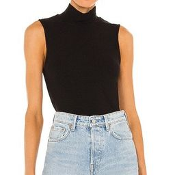Essential Sleeveless Mock Neck Top in Black, Sleeveless Sweater, Mock Neck Sweater, Fall Outfits | Revolve Clothing (Global)