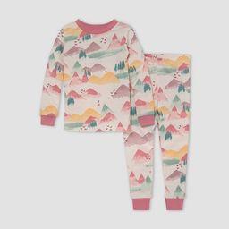 Burt's Bees Baby® Toddler Girls' 2pc Mountains Snug Fit Pajama Set - Pink   Target
