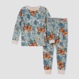 Burt's Bees Baby® Toddler Girls' 2pc Butterfly Snug Fit Pajama Set   Target