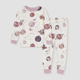 Burt's Bees Baby® Toddler Girls' 2pc Star Galazy Pajama Set - Pink   Target