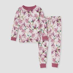 Burt's Bees Baby® Toddler Girls' 2pc Magnolia Pajama Set - Purple   Target