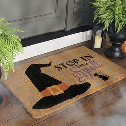 Stop For A Spell Coir Door Mat | Grandin Road | Grandin Road
