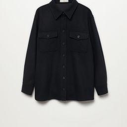 Wool shirt with pockets -  Women | Mango USA | MANGO (US)