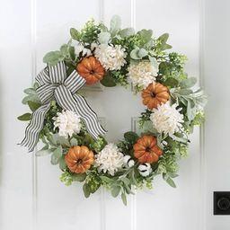Farmhouse Pumpkin Wreath | Grandin Road | Grandin Road
