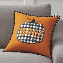 BOO Pumpkin Reversible Pillow | Grandin Road | Grandin Road