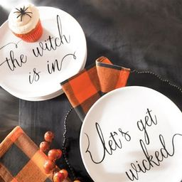 Witchy Word Plates, Set of Four | Grandin Road | Grandin Road
