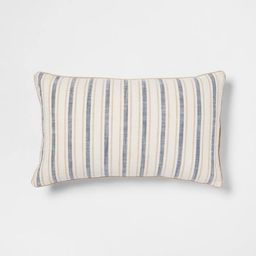 Woven Striped with Plaid Reverse Throw Pillow - Threshold™ | Target
