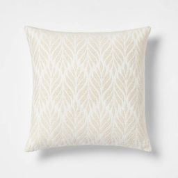 Woven Botanical Square Throw Pillow - Threshold™ | Target