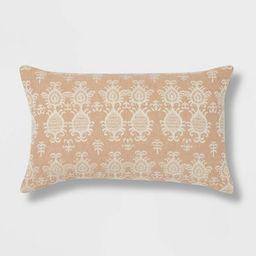 Ikat Lumbar Throw Pillow Neutral - Threshold™ | Target