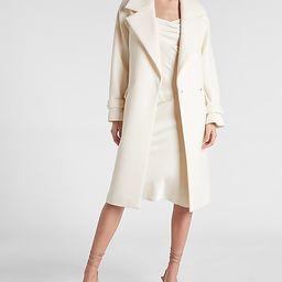 Belted Wrap Front Felt Coat | Express