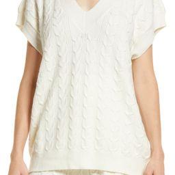 Women's Cable Knit Oversize Sweater Vest | Nordstrom | Nordstrom