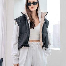 SHEIN COLDBREAK Zip Up Vest Puffer Coat | SHEIN