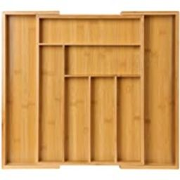 Bamboo Expandable Drawer Organizer for Utensils Holder, Adjustable Cutlery Tray, Wood Drawer Divider | Amazon (US)