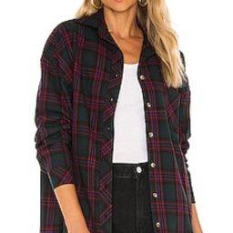 Lovers + Friends Gela Oversized Top in Green Plaid from Revolve.com   Revolve Clothing (Global)