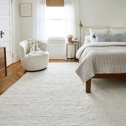 Off White Veronica Wool Braided 10' x 14' Area Rug | Rugs USA