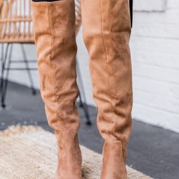 Maureen Brown Tall Suede Boots   The Pink Lily Boutique