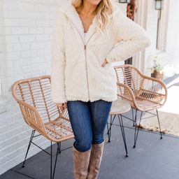 Forest Of Dreams Beige Sherpa Jacket   The Pink Lily Boutique