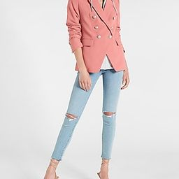 Supersoft Twill Double Breasted Blazer with Built in Hoodie | Express