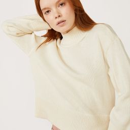 Beautifully simple, Free Assembly's mock neck sweater tops everything with great style. Exclusive...   Walmart (US)