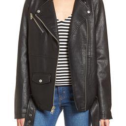 Faux Leather Moto Jacket | Nordstrom | Nordstrom