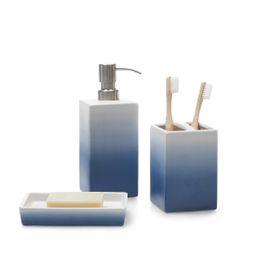 Gap Home Ombre 3 Piece Ceramic Bath Accessory Set Blue - Walmart.com | Walmart (US)