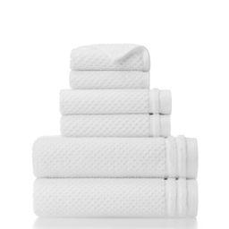 Gap Home Sculpted Organic Cotton 6 Piece Bath Towel Set White - Walmart.com | Walmart (US)