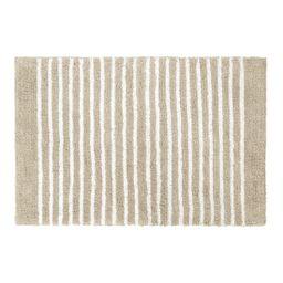 "Gap Home Easy Stripe Reversible Cotton Bath Rug Khaki/White 20""x30"" - Walmart.com | Walmart (US)"