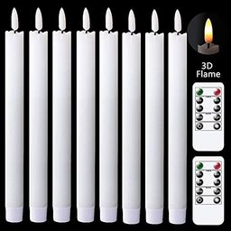 GenSwin Flameless Taper Candles Flickering with Remote Controls and Timer, Real Wax Battery Opera... | Amazon (US)