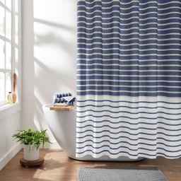 "Gap Home Easy Stripe Organic Cotton Shower Curtain Navy 72""x72"" - Walmart.com | Walmart (US)"