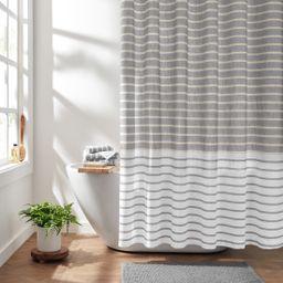 "Gap Home Easy Stripe Organic Cotton Shower Curtain Gray 72""x72"" - Walmart.com | Walmart (US)"