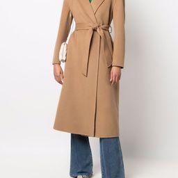 belted wool coat | Farfetch (US)