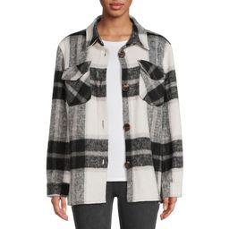 Jason Maxwell Women's Faux Wool Shirt Jacket   Walmart (US)