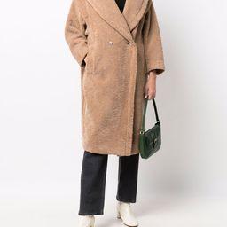 Tuia double-breasted teddy coat | Farfetch (US)