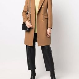 double-breasted coat | Farfetch (US)