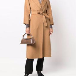 single breasted mid-length coat | Farfetch (US)