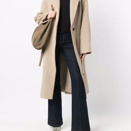 notched-lapels belted coat | Farfetch (US)