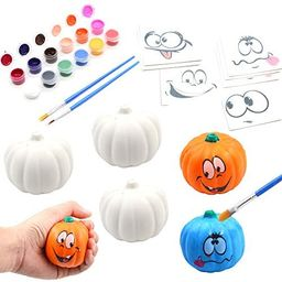 BEIGUO Halloween Crafts Paint Your Own Squishy Pumpkin 6 Pack Slow Rising Halloween Pumpkin with ... | Amazon (US)